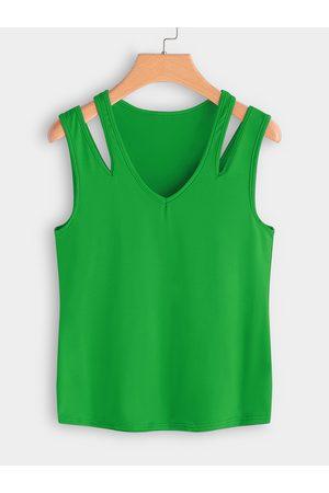 YOINS Cutout Shoulder V-neck Vest