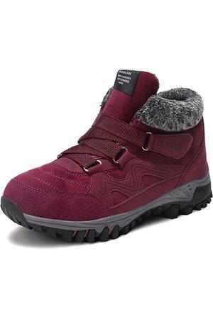 YOINS Comfy Waterproof Suede Hook Loop Ankle Boots