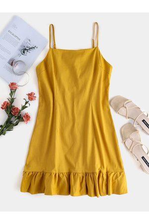 YOINS Adjustable Shoulder Straps Square Neck Dress