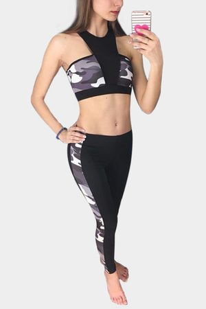 YOINS Active Print Quick Drying Elastic Tracksuit