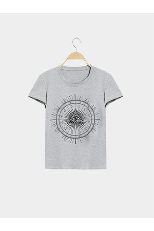YOINS Women Short Sleeve - Casual Pyramids Totem Pattern Short Sleeves T-shirt