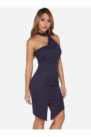 YOINS Lace Backless Slit Sexy Dress