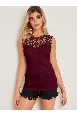 YOINS Crochet Lace Embellished Tank Top