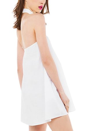 YOINS Halter Backless Shirt Dress