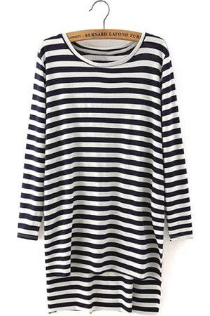 YOINS Long Sleeve Stripe Top with Side Split