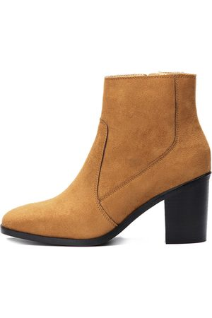 YOINS Suede Chunky Heels Ankle Boots