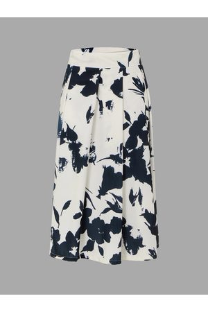 YOINS Pleated Skirt In Ink Paining Pattern