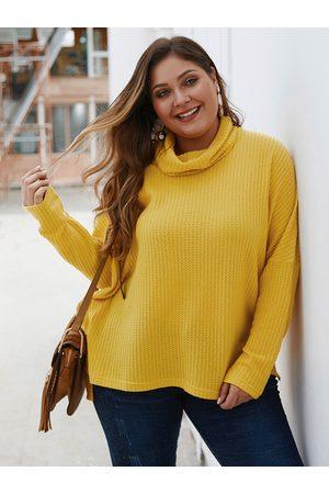 YOINS Plus Size Turtleneck Long Sleeves Sweater