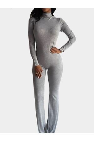 YOINS Long Sleeves Bodycon Jumpsuit with Back Zippper Design in Light
