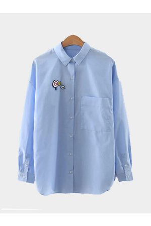 YOINS Cute One Pocket Long Sleeves Shirt