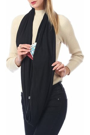 YOINS Plain Zip Pockets Oversized Scarf