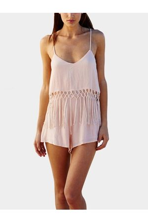 YOINS Sexy Fringed Cami Playsuit