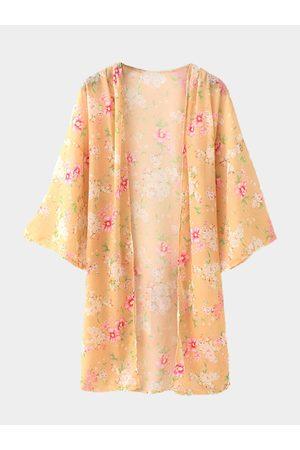 YOINS Floral Print Kimono
