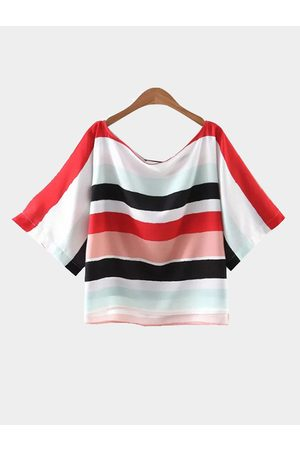 YOINS Stripe Short Sleeve Loose T-shirt