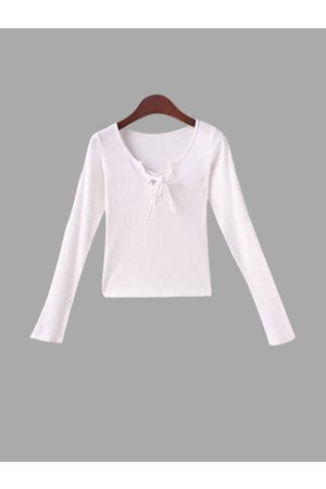 YOINS Lace-up Long Sleeves Top