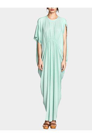 YOINS Women Casual Dresses - Aquamarine Maxi Dress In Jersey