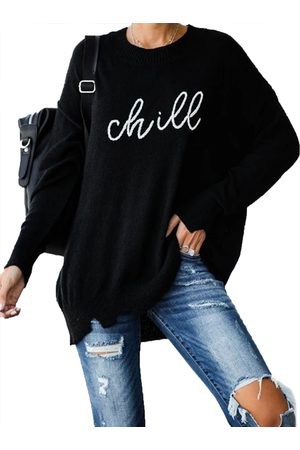 YOINS Graphic Round Neck Long Sleeves Jumper