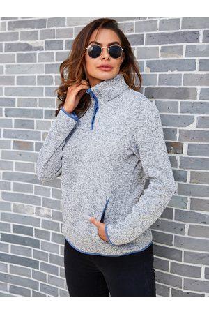 YOINS Front Button Long Sleeves Sweatshirt