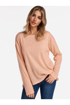 YOINS Adjustable Neck Plain Round Neck Long Sleeves T-shirts