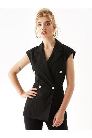 YOINS Wrap Design Notch Collar Waistcoat