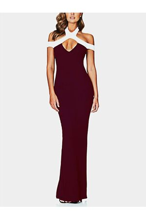 YOINS Women Party Dresses - Cut Out Cold Shoulder Sleeveless Party Dress
