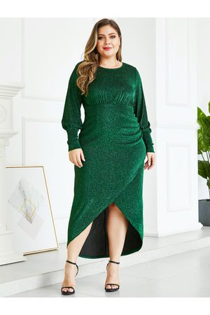YOINS Plus Size Metallic Shine Party Dress