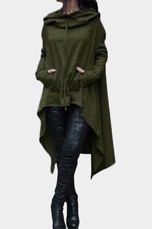 YOINS Army Hooded Design Long Sleeves Causal Kangaroo Pockets Hoodie