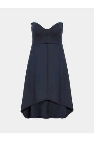 YOINS Indigo Strapless Full Dress