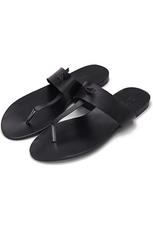 YOINS Leather Look Simple Style Flat Sole T-bar Strap Slippers