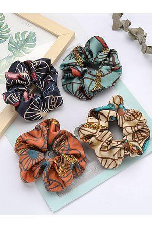 YOINS Pleated Design Scarf Print Elastic Hair Ring