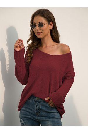 YOINS Basic V-neck Long Sleeves Sweater