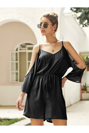 YOINS Women Long Sleeve - Cold Shoulder V-neck Long Sleeves Playsuit