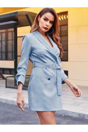YOINS Women Pencil Dresses - Tailored Belt Design Basic Dress