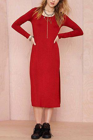 YOINS Women Knitted Dresses - High Slit Knit Dress