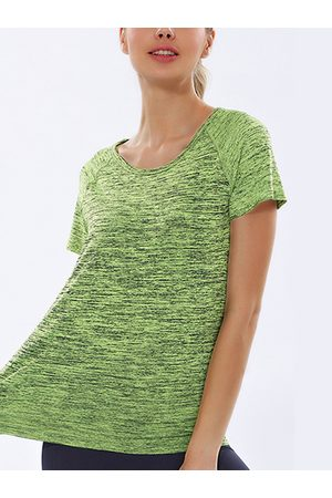 YOINS Lime Round-neck Quick-drying Sports T-shirt