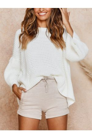 YOINS Round Neck Long Bell Sleeves Knit Top