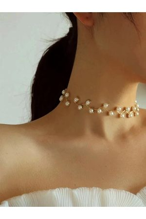 YOINS Women Necklaces - Pearl Clavicle Chain Choker Multi-layer Necklace