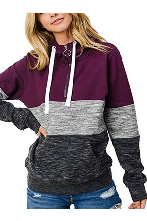 YOINS Women Long Sleeve - Hooded Design Pullover Long Sleeves Hoodie