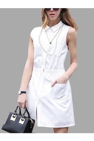 YOINS Women Casual Dresses - Sleeveless Shirt Dress