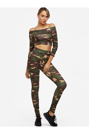 YOINS Off The Shoulder Long Sleeves Two Piece Outfits
