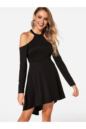 YOINS Backless Lace Long Sleeves Dress