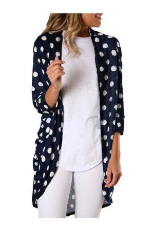 YOINS Navy Polka Dot Long Sleeves Cardigan