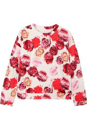 YOINS Women Sweatshirts - Colorful Sweatshirt with Rose Print