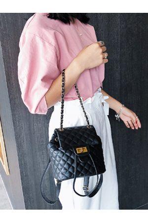 YOINS Women Rucksacks - Plain Drawstring Design Metallic Buckle CrossBody Bag