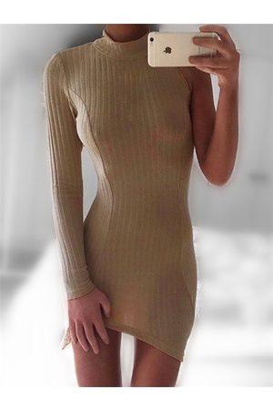 YOINS Half Sleeve Crew Neck Bodycon Dress