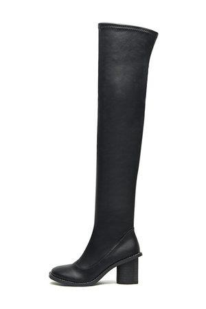 YOINS Heel Over The Knee Leather-look Boots