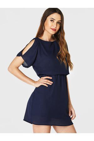 YOINS Women Short Sleeve - Cut Out Cold Shoulder Short Sleeves Dress