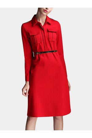 YOINS A-line Shirt Dress with Belt