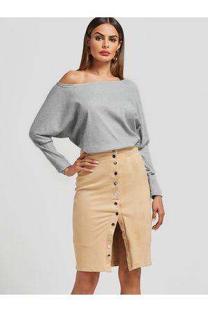 YOINS Women Long Sleeve - One Shoulder Dolman Sleeve Top