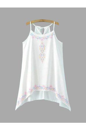 YOINS Geometric Print Sleeveless Mini Dress